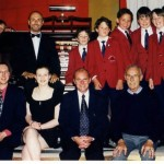 With James Duncan, Auckland Boys Choir, and Organist Colleagues in a Gala Concert at the Hollywood Theatre Auuckland, in 1998